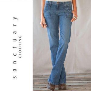 Sanctuary PEACE Flare Leg Jeans. Size 26